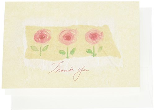 Great Papers! La Jardin Rose Thank You Note Cards with Envelopes, 4.875