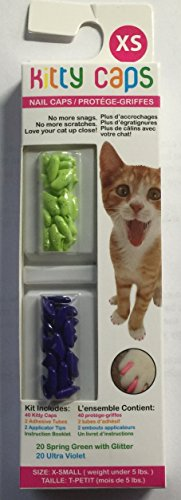 Kitty Caps, Large Green & Purple : Cat (Weight 13 Lbs or ...