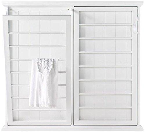 """Madison Fold down Wall mounted Laundry Drying Rack, 42""""Hx46""""W, WHITE"""