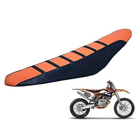 Cuscini Sedile Sedile Moto off-Road Soft Grip Universale for KTM Honda Suzuki Yamaha Kawasaki Giallo ETbotu Coprisedile per Moto