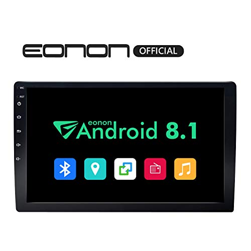 2019 Double Din Car Stereo, Android 8.1 Car Radio Stereo Audio Eonon 10.1″ Double Din, Quad-Core, 2GB RAM 16 ROM, Car GPS Navigation Head Unit,Support Bluetooth, WiFi Connection(NO DVD/CD)- GA2168K