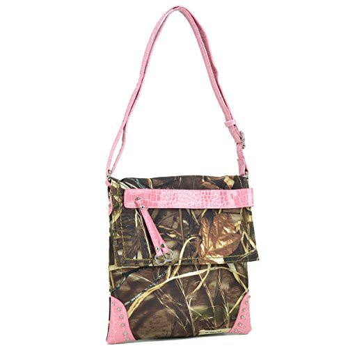 Realtree Dasein Brown Pink in Crossbody Bag Messenger Purses W Camouflage Camo Bag Camo Rt1500670 Trim Handbag rraqwC5