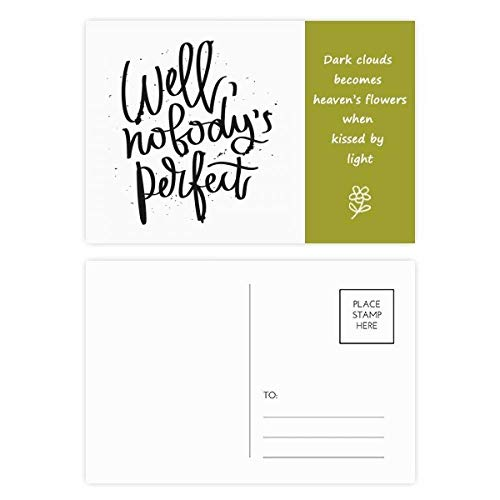 Well Nobody's Perfect Quote Poetry Postcard Set Thanks Card Mailing Side 20pcs