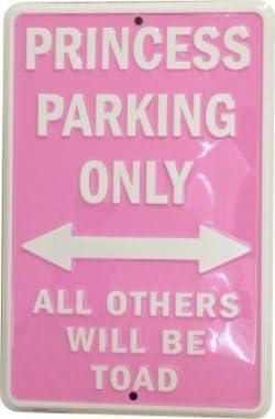 FS Queen K/önigin Parking only parkschild tin Sign Blechschild Schild gew/ölbt Metal Sign 20 x 30 cm