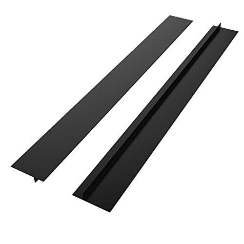 "Nuovoware Silicone Gap Cover, [2PACK] 21"" Premium Silicone Kitchen Stove Cooktop Counter Gap Covers, Food Grade, Non-toxic, Black"