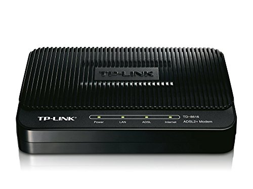 TP-LINK TD-8616 ADSL2+ Modem, Up to 24Mbps Downstream Bandwidth, 6KV Lightning Protection