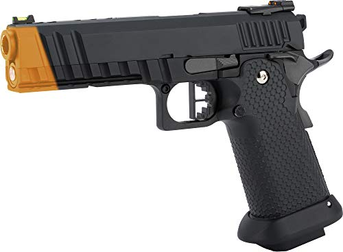 Evike AW Custom Black Ace Hi-Capa Gas Blowback Airsoft Pistol