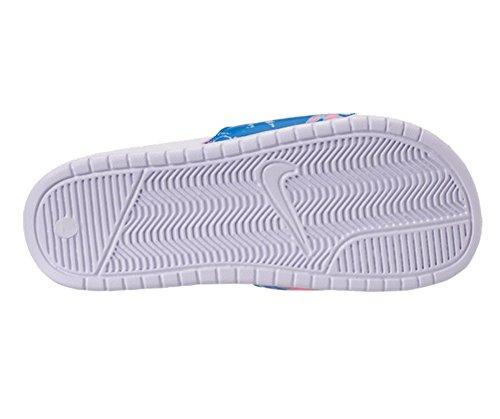 Nike Wmns Benassi Jdi Print Dame 618919-109 Hvid / Hvid-koral Kalk-blå Stjernetåge BOCYHBo2