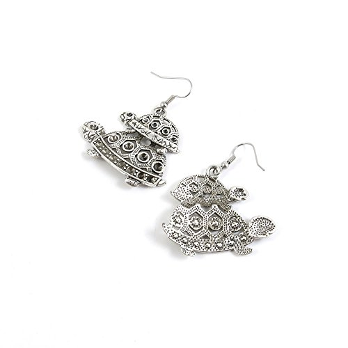 50 Pairs Parent Child Turtle Ear Hooks Earring Supply Jewelry Making Charms ()