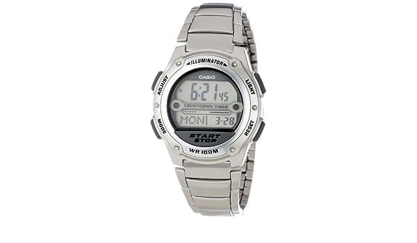 Casio W756D-7AV - Reloj de pulsera hombre, Acero inoxidable, color Plata: Casio: Amazon.es: Relojes