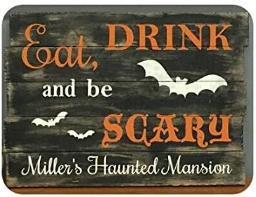 Spooky Sign,Halloween Sign Personalized Halloween Wall Decor,Fall Rustic Decor,Wood Sign Custom Halloween Decor,Haunted House Decor