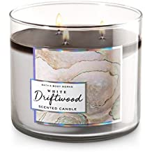 Bath and Body Works White Barn White Driftwood 3 Wick Candle 14.5 Ounce 24 To 45 Hour Burn Time