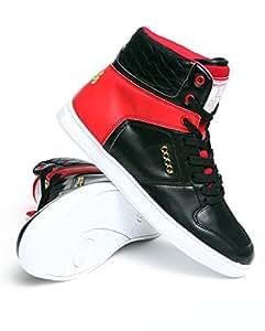 Coogi Hi Top Blk Red Shoes (Women)