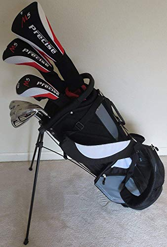 (Mens Complete Golf Set Clubs Driver, Wood, Hybrid, Irons, Putter, & Stand Bag Professional Premium Quality)