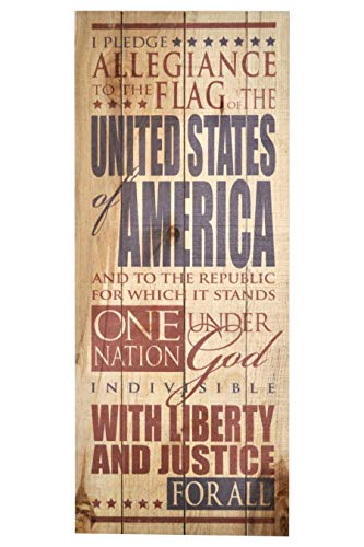 Pledge Allegiance to the Flag 9 x 22 Wood Pallet Design Wall Art Sign Plaque ()