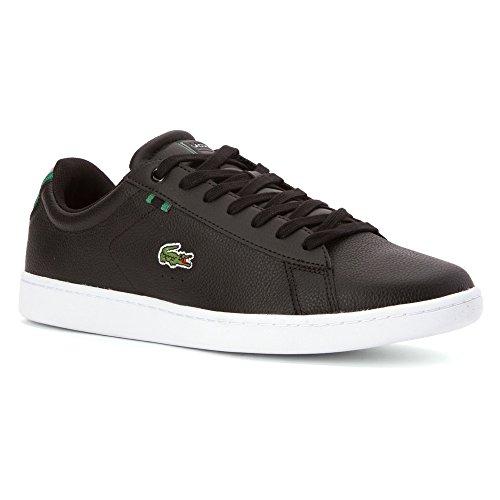 Lacoste Carnaby Evo Chaussure Dentraînement En Cuir - Homme Cuir Noir / Vert
