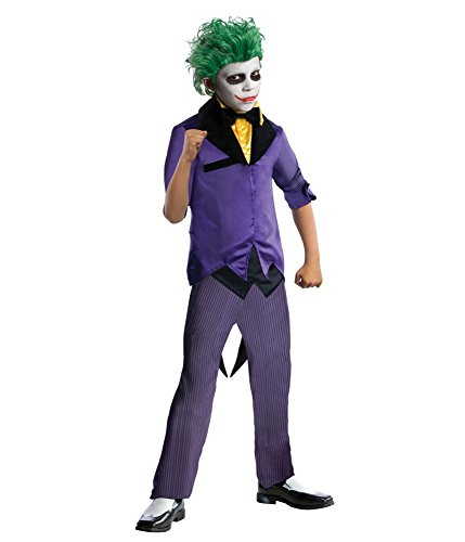 Rubies DC Super Villains The Joker Costume, Child (Super Creepy Halloween Costumes)