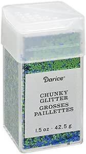 Darice Chunky Mermaid Blue, 1.5 ounces Glitter