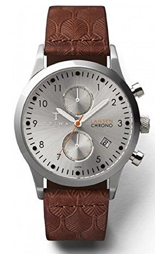Triwa Unisex LCST102 Stirling Lansen Chrono Watch with Brown Deco Leather Band LCST102 DC010212