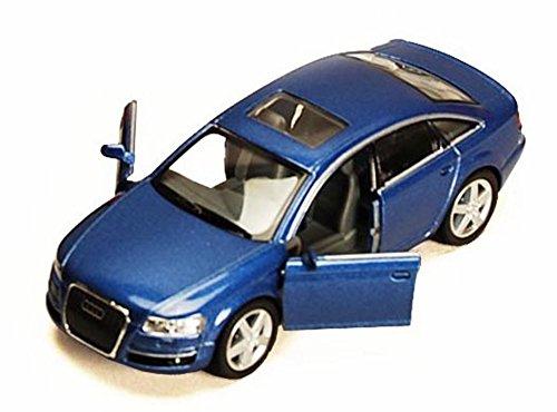 Audi Diecast Cars (Audi A6, Blue - Kinsmart 5303D -1/38 scale Diecast Model Toy Car (Brand New, but NO BOX))