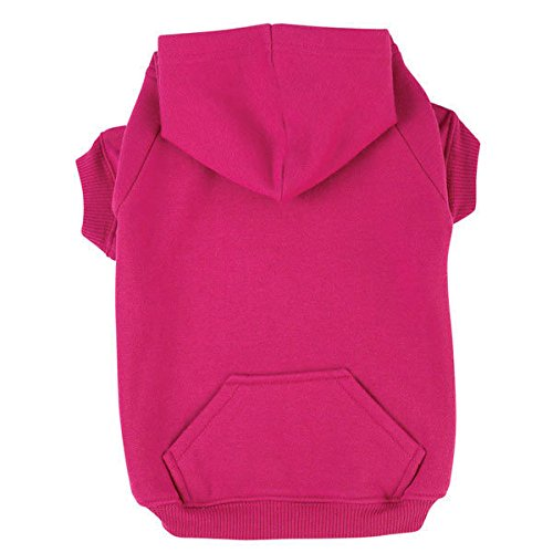 Zack & Zoey Dog Hoodies Bright Soft Cotton Hooded Sweatshirt for Dogs Choose Size & Color(Small Raspberry Sorbet)