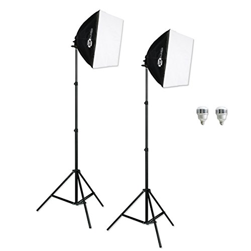 LED Photography Studio EZ Softbox Portrait Interview Lighting Kit from PBL