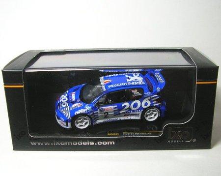 Ixo Models 1/43 Freddy Loix/Sven Smeets #2 Peugeot 206 WRC: Winner Rally Cond...