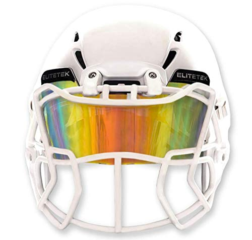 Best football visor - EliteTek Color Football Helmet Visor - Fits Youth Football Helmet & Adult (Clear Orange Colored)