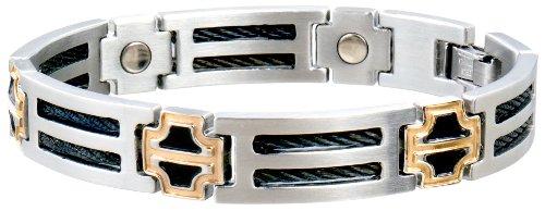 Sabona Black Cable Duet Magnetic Bracelet - Large