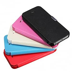 Slim Magnetic Folio PU Leather Hard Case Cover Pouch For iPhone 5 5G --- Color:Sky Blue