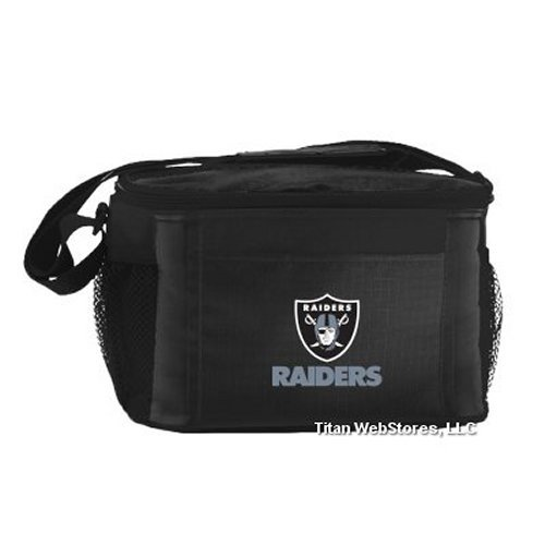 NFL Football Tailgating 6 Pack Cooler - Lunch Box Cooler (Raiders)
