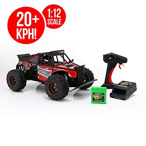 RC CHARGERS Growler Remote Controlled Off Road Truck, 1:12 Scale | Polycarbonate Body, Rugged Suspension, Off-Road Capable, 2.4GHz, Pistol Grip Control | 9.6v Battery and Charger Included ()
