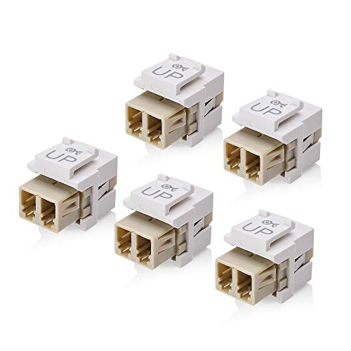 (Cable Matters 5-Pack LC Duplex Multimode Fiber Keystone Jack in)