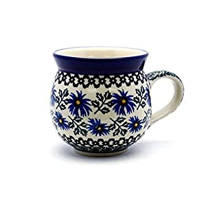 Polish Pottery Mug – 12 Oz. Bubble – Blue Chicory
