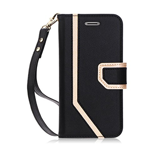 (FYY Leather Case with Mirror for iPhone Xs (5.8