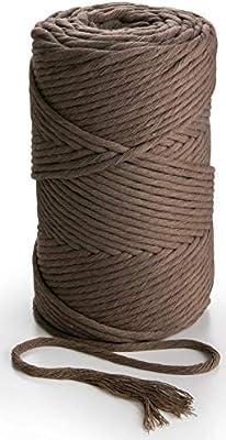 Cuerda de algodón de color topo 3mm x 140m cuerda de algodón suave ...