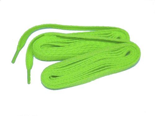 63 Tum Heta Neon Grön Laget Skosnören (tm) 24 Bulk Par Laget Pack
