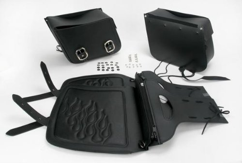 - Saddlemen Highwayman Tattoo Slant Saddlebags (LARGE) (BLACK)