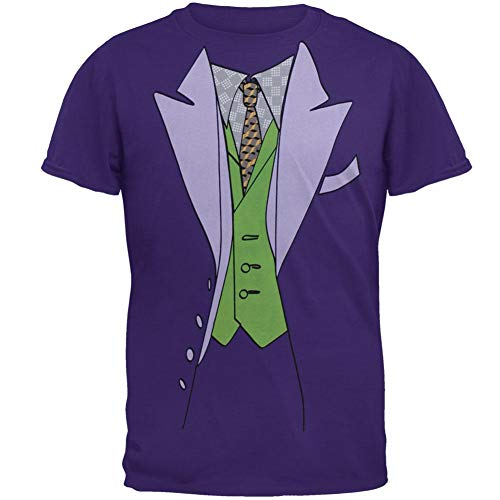 Batman - Mens Joker Suit Costume T-Shirt - 2X-Large