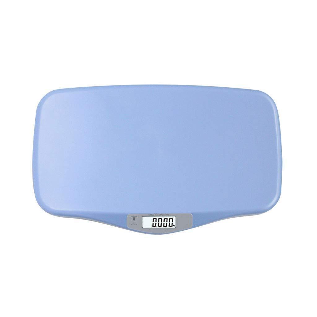 Eroscc デジタル天秤ばかり、LCD表示最大積載量の風袋引き機能子供の体重計、ペット用犬猫、デジタルベビー体重計、幼児の体重、体重計 (色 : 青) B07R22Y2YQ 青