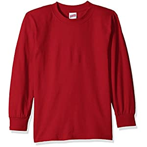 Soffe Big Boys' Long Sleeve Cotton T-Shirt
