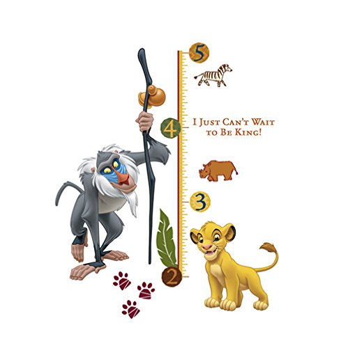 RoomMates The Lion King Simba and Rafiki Peel and Stick Giant Growth Chart
