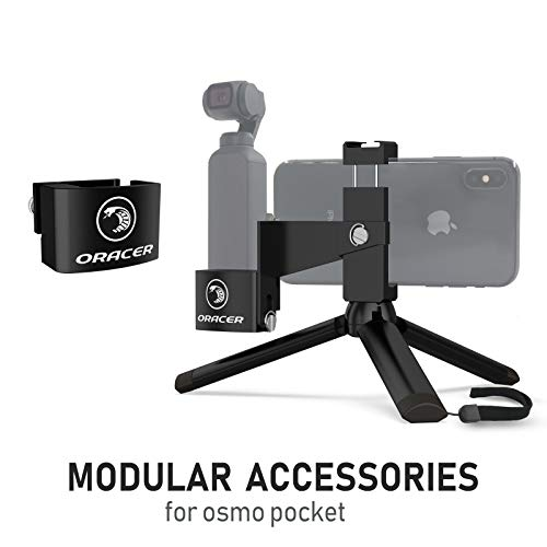 ORACER Osmo Pocket Mount Accessories Handheld Tripod Mount Phone Holder Bracket with Cold Shoe, Desktop Base Stand with GoPro Adapter Expansion Kit for DJI Osmo Pocket