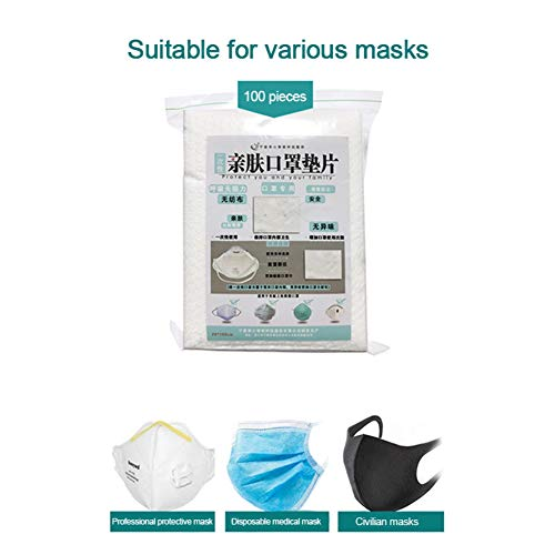 Flightbird 100 Pcs Air Mask Fiters Non-woven Haze Mask Replacement Universal Protective Breathable Replaceable Filter