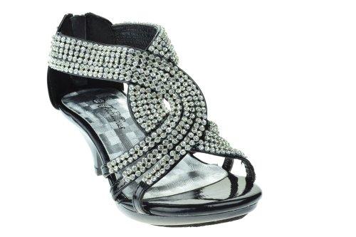 91735e8ee Fabulous Angel-37K Little Girls Bling Rhinestone Platform Dress Heels  Sandals - Buy Online in Oman.