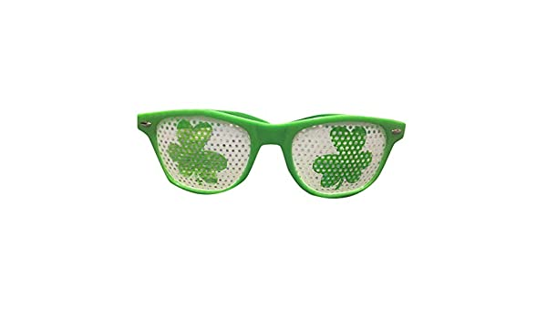 Gafas verdes para adultos con diseño de trébol de San ...