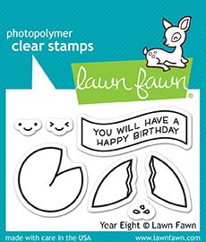 Lawn Fawn Clear Stamps LF1605 Year Eight -