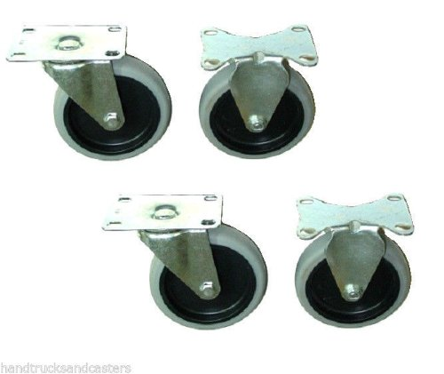 Set of 4 Light Duty Casters with 5