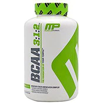 MP Essentials BCAA Caps, 6 Grams of BCAAs Amino Acids, Post Workout Recovery Drink for Muscle Recovery and Muscle Building, MusclePharm, Unflavored, 30 Servings