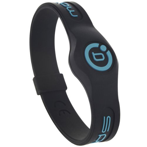 Armband Bioflow Sport Magnetfeldtherapie Silikon - Schwarz/Blau (Large 20.5 cm)